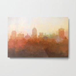 Fresno, California Skyline - In the Clouds Metal Print