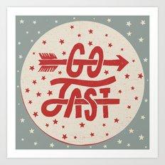 Go Fast Art Print