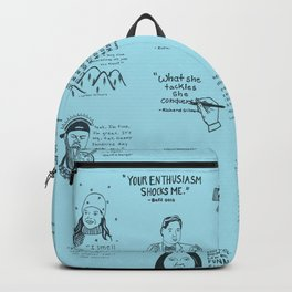 Gilmore Girls Quotes in Blue Backpack