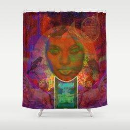 I light My Eyes Shower Curtain