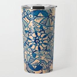 mandala azzuro Travel Mug