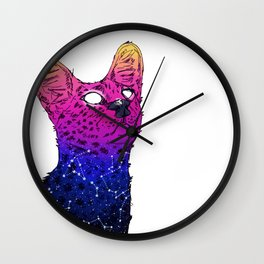 Galaxy Serval Wall Clock