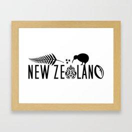 New Zealand Icons - Maori Kiwi Fern Rugby Framed Art Print