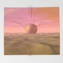 Desert Dream of Geometric Proportions Throw Blanket