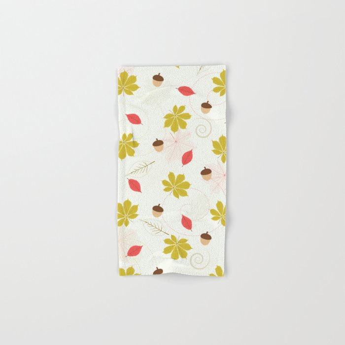 Autumn Pattern Hand & Bath Towel
