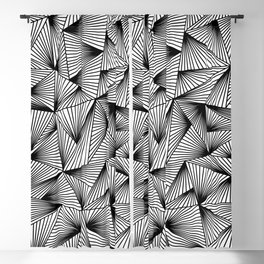 black and white triangle Blackout Curtain