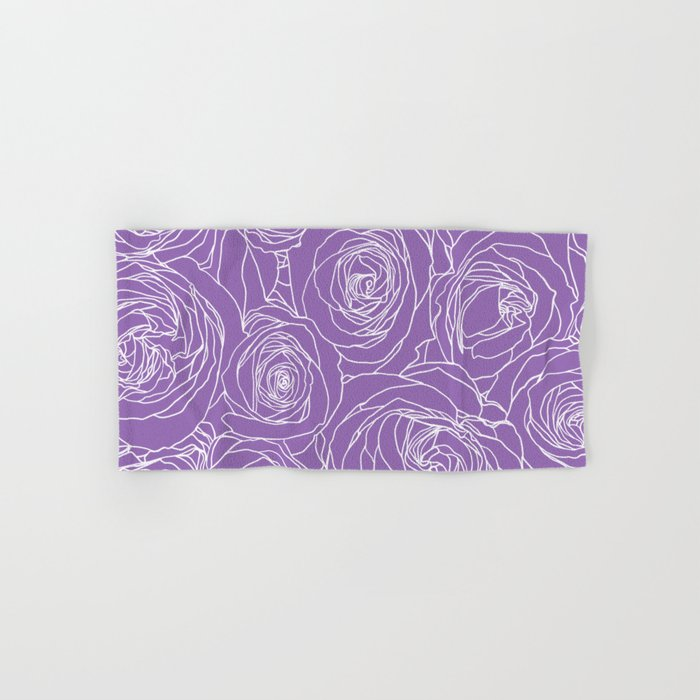 Amethyst Roses Hand & Bath Towel