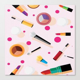 Pretty Makeup Canvas Print