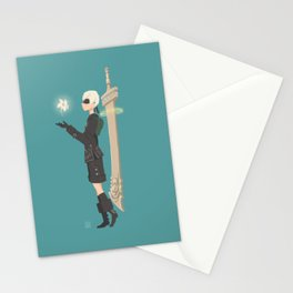 9S Nier Automata Stationery Cards