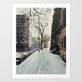 Snow Equinox print of an original oil painting Art Print