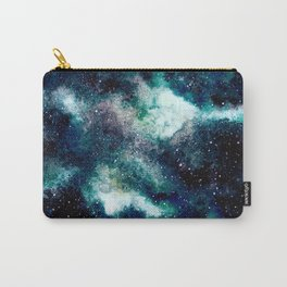 Dreamy Cloud Galaxy, Blue Carry-All Pouch
