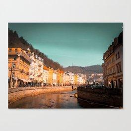Karlovy Vary cityscape Canvas Print