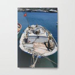 Moored Fishing Boat Metal Print