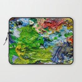 Artist palette with colorful paint spots Laptop Sleeve