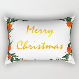 Christmas wreath with oranges Rectangular Pillow