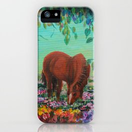 Horse in the Field iPhone Case