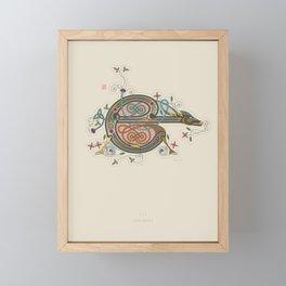 Celtic Initial E Framed Mini Art Print