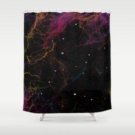Abstract Nebula K1 Shower Curtain