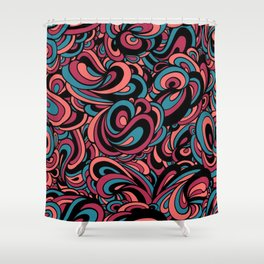 Swirls Galore #PopArt #CoolArt #Patterns Shower Curtain