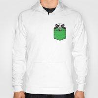 pocket Hoodies featuring Pocket Panda by Steven Toang