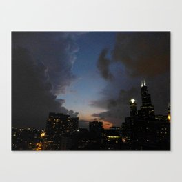 Clash of the Clouds Canvas Print