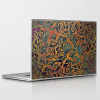 antique Laptop & iPad Skins featuring ANTIQUE PATTERN by Klara Acel