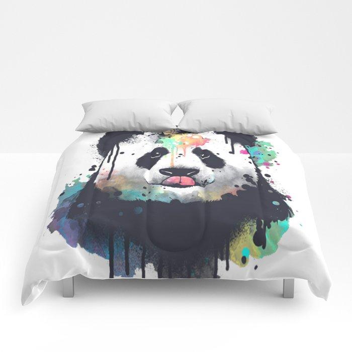 Ice cream pandacorn Comforters