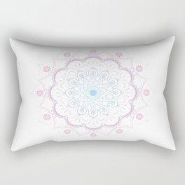 Mandala in pink and blue Rectangular Pillow
