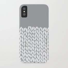 Half Knit Grey iPhone Case