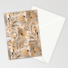 Beige floral pattern. Stationery Cards
