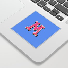 M Initial Letter Sticker
