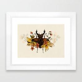 Blooming Beetle Framed Art Print