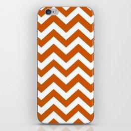 Burnt orange - orange color - Zigzag Chevron Pattern iPhone Skin