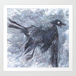 The Bearded Crow Art Print