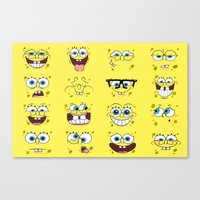 spongebob Canvas Prints featuring Spongebob  by Lyre Aloise