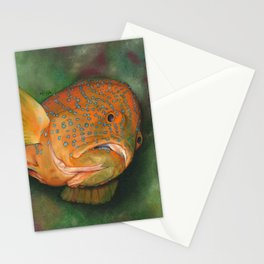 Coral Grouper Stationery Cards