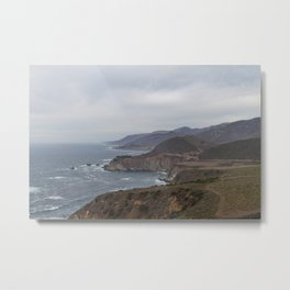 The Bixby Bridge on the California Coast Metal Print