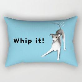 Whip it! (Light Blue) Rectangular Pillow