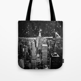 Starry Night in New York Tote Bag