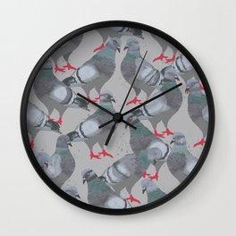 City Pigeons Wall Clock