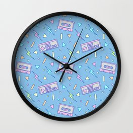 80s Video Games and Mix Tapes Wall Clock
