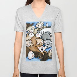 Wall to Wall Weasels Unisex V-Neck