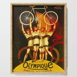 Vintage Olympique Bicycle Ad Serving Tray