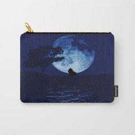 Blue moon wolf Carry-All Pouch