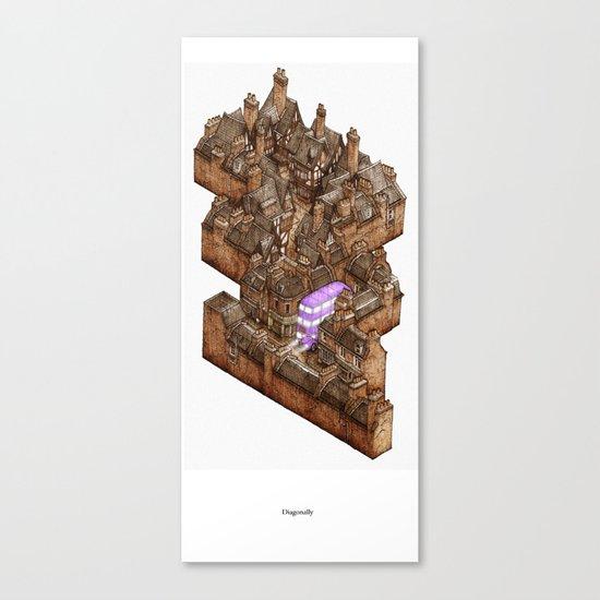 Diagonally Canvas Print