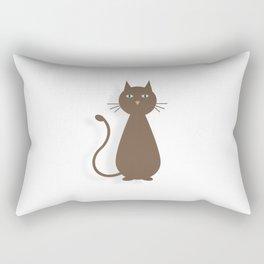 Plotting Feline Rectangular Pillow