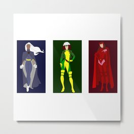 Awesome Women of the Xmen Metal Print