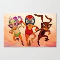 mucha Canvas Prints featuring Mucha Lucha by ratchetxxo