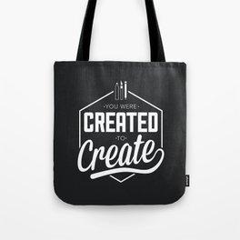 Created to Create Tote Bag