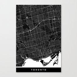 Toronto - Minimalist City Map Canvas Print